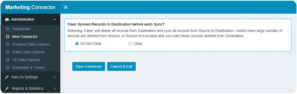 Truncated record sync