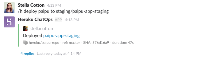 deploying to specific app